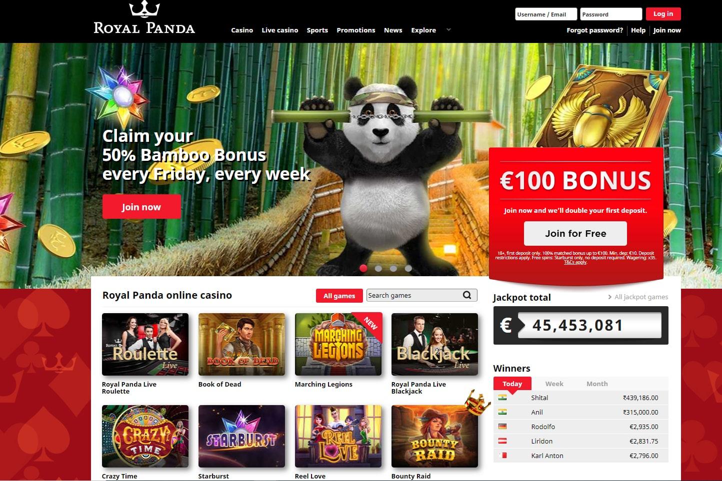 Royal Panda – A Fantastic Gambling Platform